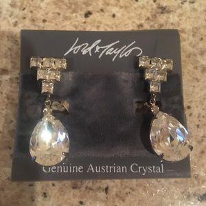 BOGO Lord n Taylor vintage crystal earrings NIP